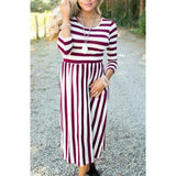 Matching Mother Daughter Striped Dress - dresslikemommy.com