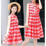Matching Mother & Girl Colorful Chiffon Dress-Dresses-dresslikemommy.com