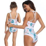 Matching One-Piece Bathing Suit - dresslikemommy.com