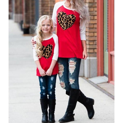 Matching Outfits T-shirt Mother & Daughter-Tops-dresslikemommy.com