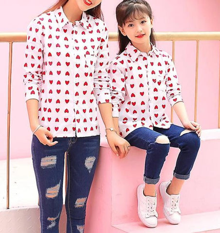 Matching Red Hearts Shirt-Tops-dresslikemommy.com