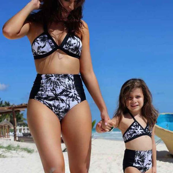 Matching Swimsuit Mom and Daughter Set-Swimsuits-dresslikemommy.com