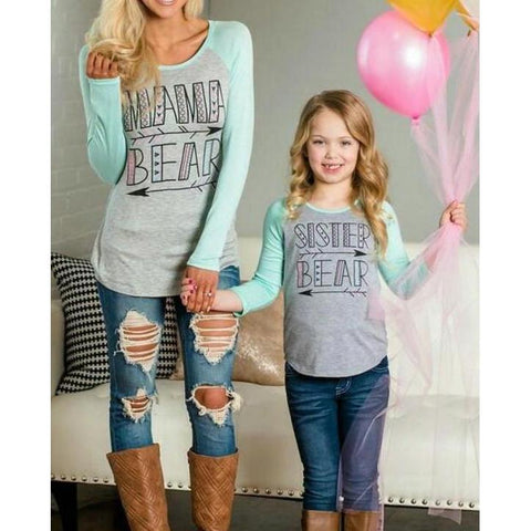 Matching Top T-Shirts Mother And Daughter-Tops-dresslikemommy.com