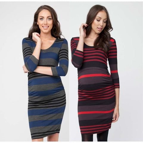 Maternity Striped Dress-Maternity-dresslikemommy.com