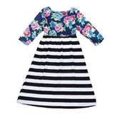 Mom and Daughter Long Sleeve Floral Dress - dresslikemommy.com