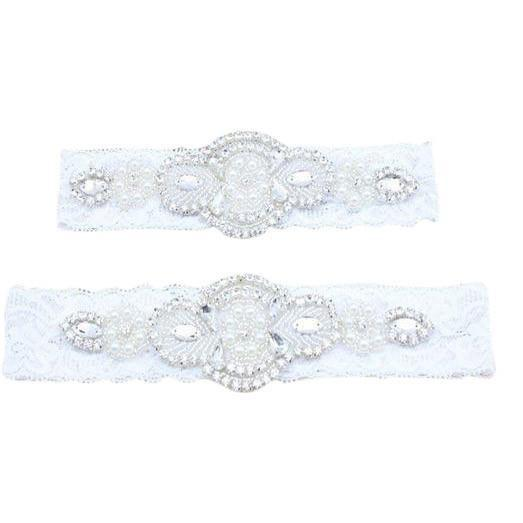 Mom and Me Matching Elastic Lace Headband White Set - dresslikemommy.com