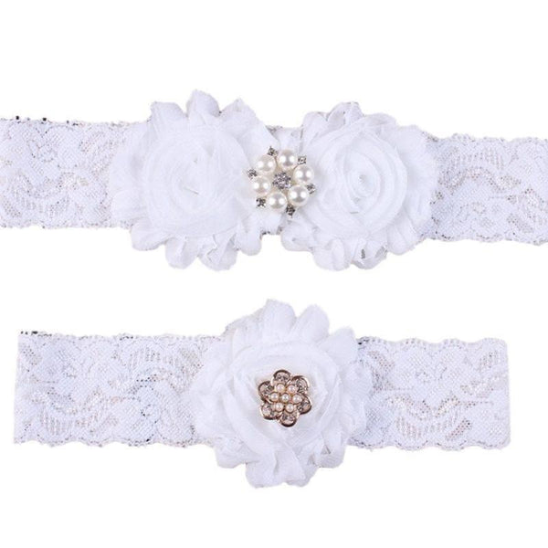 Mom and Me Matching White Flower Headband Set - dresslikemommy.com