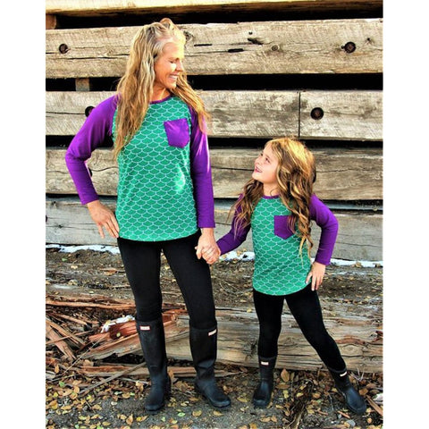 Mom & Baby Casual Long Sleeve T-shirt-Tops-dresslikemommy.com