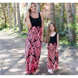 Mommy and Me Coral Maxi Dress-Dresses-dresslikemommy.com