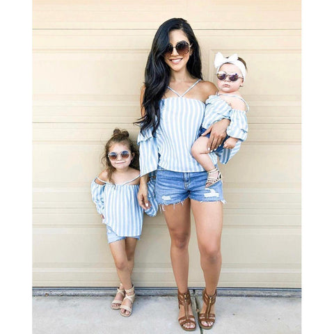 Mommy and Me Off Shoulder Halter Top-Tops-dresslikemommy.com
