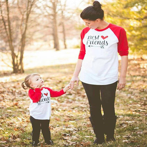 Mommy & Me Best Friends T-shirt-Tops-dresslikemommy.com
