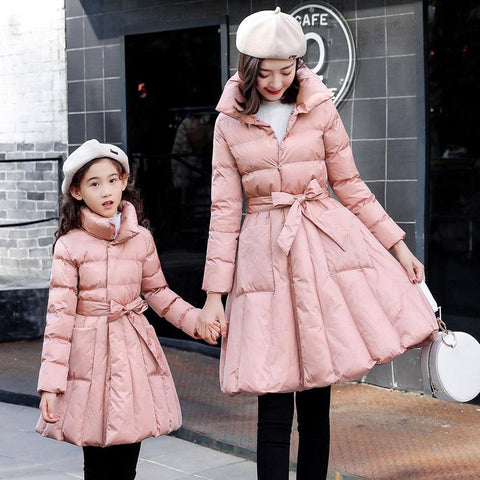 Mommy & Me Cotton Padded Winter Coat-Coats-dresslikemommy.com