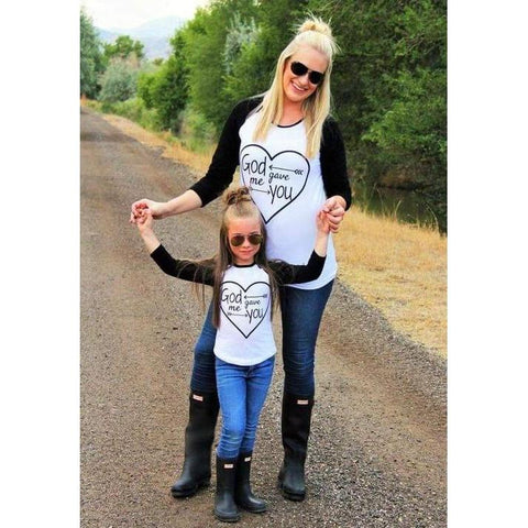Mommy & Me God Gave Me You T-shirt-Tops-dresslikemommy.com