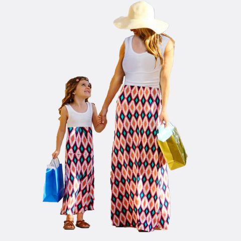 Mommy & Me Matching Bohemian Maxi Dress-Dresses-dresslikemommy.com