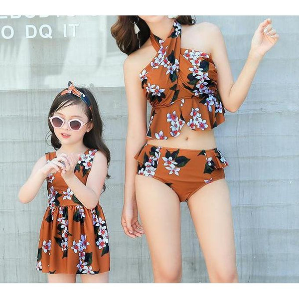 Mommy & Me Matching Floral Swimsuit - dresslikemommy.com