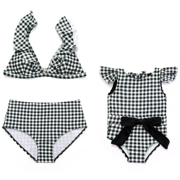 Mommy & Me Matching Plaid Swimsuit - dresslikemommy.com