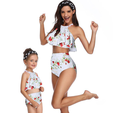 Mommy & Me Matching Roses Swimsuit-Swimsuits-dresslikemommy.com