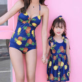 Mommy & Me Pineapple Printed One-piece Swimsuit - dresslikemommy.com