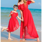 Mommy & Me Solid Color Beach Dress - dresslikemommy.com