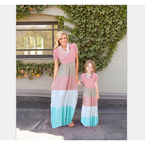 Mommy & Me Splice Summer Maxi Dress - dresslikemommy.com