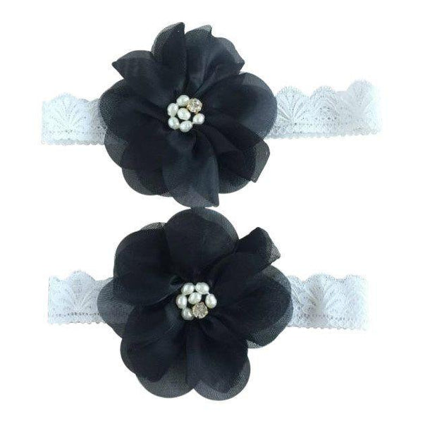 Mommy & Me Vintage Lace Headband Black Set - dresslikemommy.com