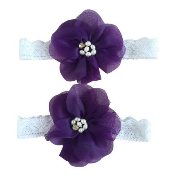 Mommy & Me Vintage Lace Headband Purple Set - dresslikemommy.com
