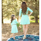 Mother And Daughter Light Blue Dress-Dresses-dresslikemommy.com