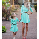 Mother And Daughter Light Blue Dress - dresslikemommy.com
