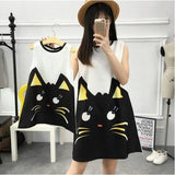 Mother and Daughter Matching Cat Sleeveless Dress-Dresses-dresslikemommy.com