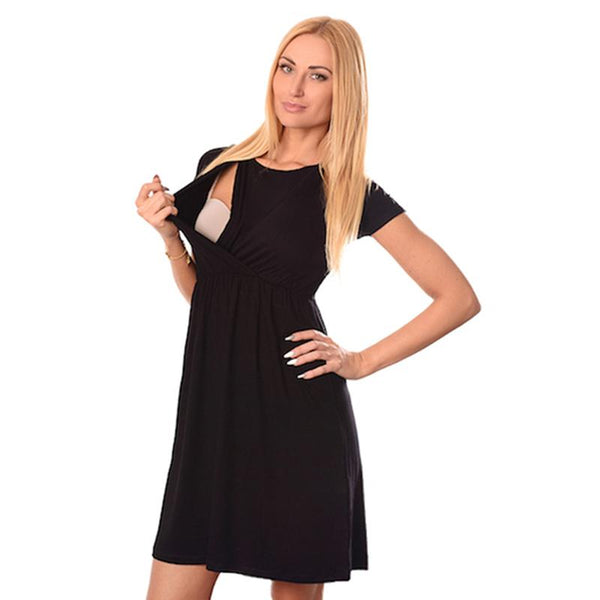 Mother Breastfeeding Short-Sleeved Dress - dresslikemommy.com