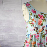 Mother Daughter Floral Sleeveless outfit - dresslikemommy.com
