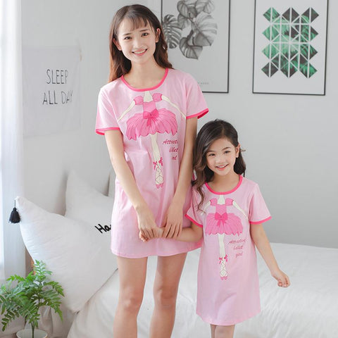 Mother Daughter Matching Ballet Pajamas-Pajamas-dresslikemommy.com