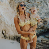 Mother & Daughter Matching Bikini Set Yellow - dresslikemommy.com
