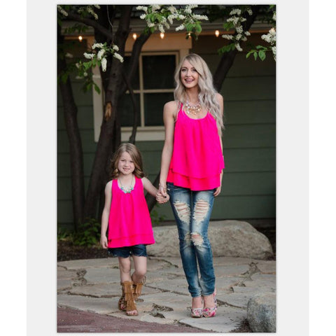 Mother Daughter Matching Casual T-Shirt-Tops-dresslikemommy.com