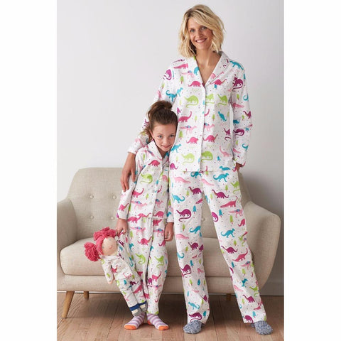 Mother Daughter Matching Dino Pajamas-Family Matching-dresslikemommy.com