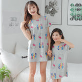 Mother Daughter Matching Kitty Pajamas-Pajamas-dresslikemommy.com