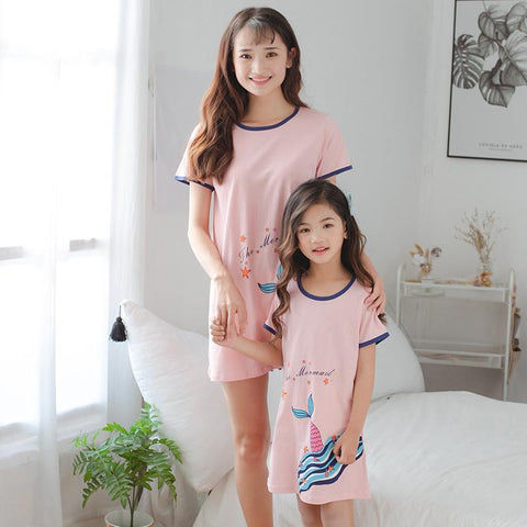 Mother Daughter Matching Mermaid Pajamas-Pajamas-dresslikemommy.com