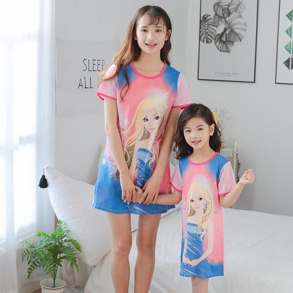 Mother Daughter Matching Princess Pajamas-Pajamas-dresslikemommy.com