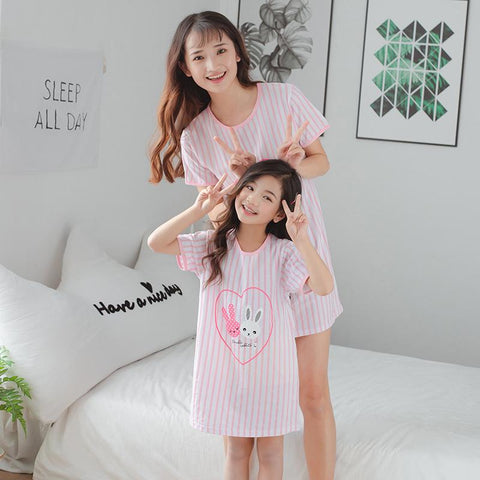 Mother Daughter Matching Rabbit Pajamas-Pajamas-dresslikemommy.com