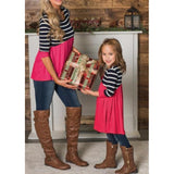Mother & Daughter Striped Stitching T-Shirt - dresslikemommy.com