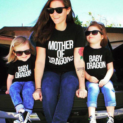 Mother of Dragons T Shirt Matching Outfit-Tops-dresslikemommy.com