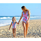 One Piece Mother and Child Matching Monokini-Swimsuits-dresslikemommy.com