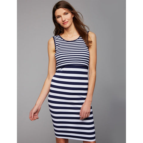 Pregnant Striped Breastfeeding Dress-Maternity-dresslikemommy.com