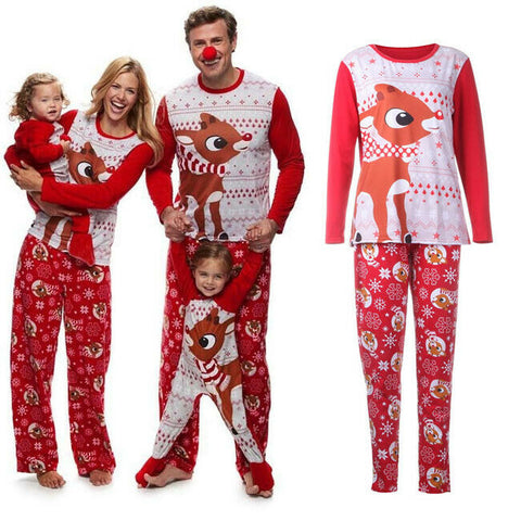 Family Matching Merry Christmas Pajamas PJs Set - dresslikemommy.com