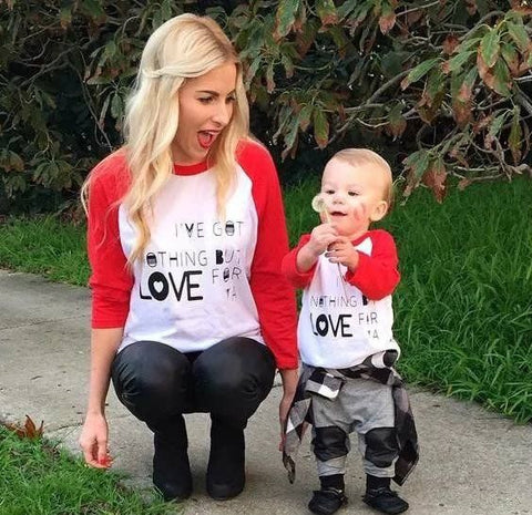 Mommy & Me Long Sleeve T-shirt Nothing But Love For You - dresslikemommy.com