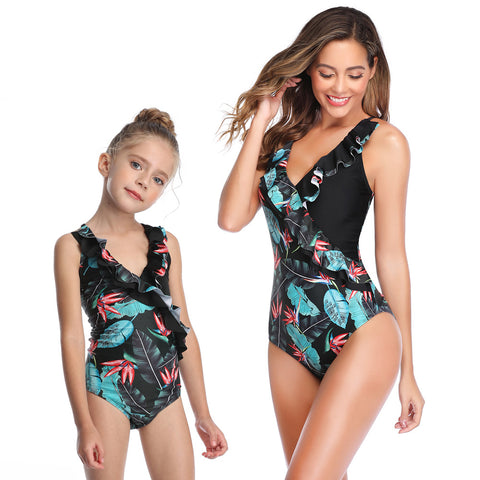 New 2020 Matching Mommy & Me Floral One Piece Swimsuit - dresslikemommy.com
