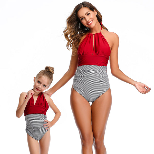 New 2020 Matching Mommy & Me One Piece Swimsuit - dresslikemommy.com