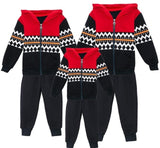 Family Matching Wave Stitching Sweatshirt + Pant Set - dresslikemommy.com