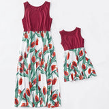 Spring Red Tulips Matching Dress - dresslikemommy.com