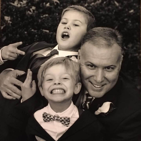 Brian Marks with sons